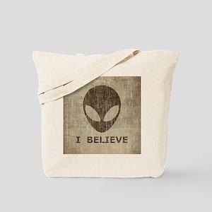 Vintage Alien Tote Bag