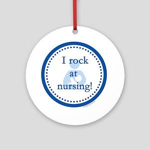 I Rock at Nursing Round Ornament