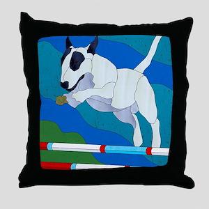 Agility Bully Throw Pillow