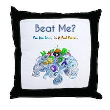 Billiard Sea Dragons Throw Pillow