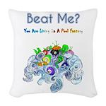 Billiard Sea Dragons Woven Throw Pillow