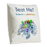 Billiard Sea Dragons Burlap Throw Pillow