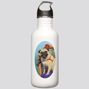 Pug in Wicker Chair Stainless Water Bottle 1.0L