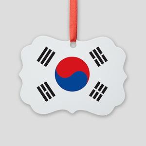 South Korea Flag Picture Ornament