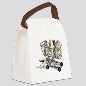 Shopping with Ferrets Canvas Lunch Bag