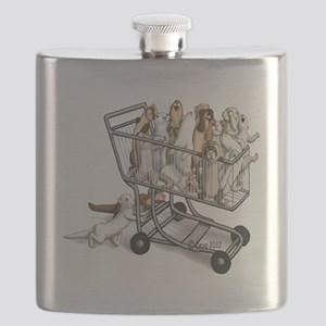 Shopping with Ferrets Flask