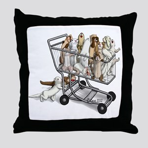 Shopping with Ferrets Throw Pillow