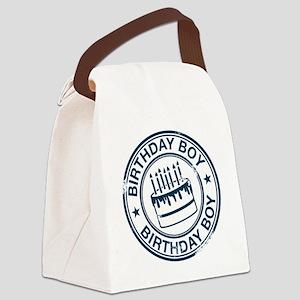 Birthday Boy dark blue Canvas Lunch Bag