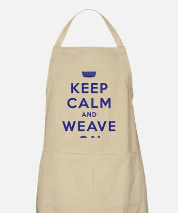 Keep Calm and Weave On III Apron