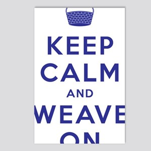 Keep Calm and Weave On II Postcards (Package of 8)
