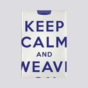 Keep Calm and Weave On III Rectangle Magnet