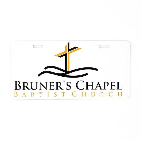 Bruners Chapel Cross Logo Aluminum License Plate by ADMIN