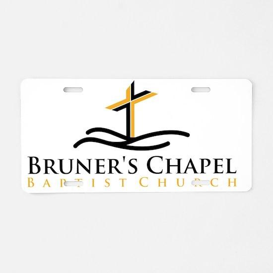 Bruners Chapel Cross Logo Aluminum License Plate