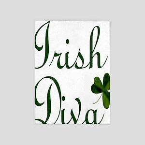 Irish Diva Twin Duvet 5'x7'Area Rug