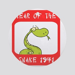 Year of The Snake 1941 Round Ornament