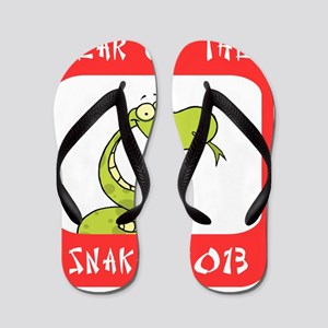 Year of The Snake 2013 Flip Flops