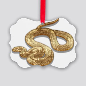 Year of The Snake Picture Ornament