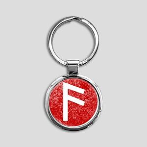 Ansuz Round Keychain