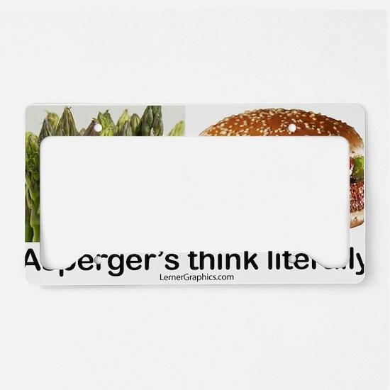 Aspie Burger License Plate Holder