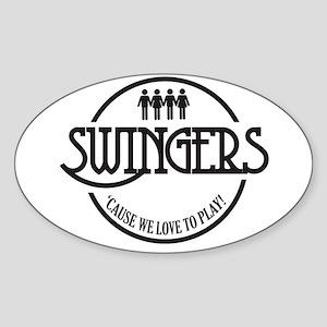 Swingers Sticker (Oval)