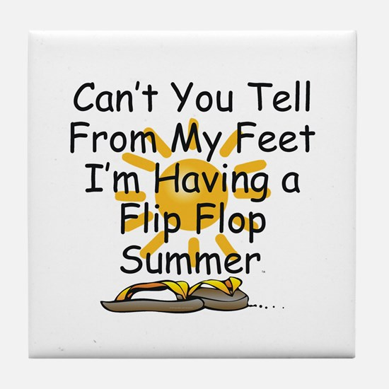 Flip Flop Summer Tile Coaster