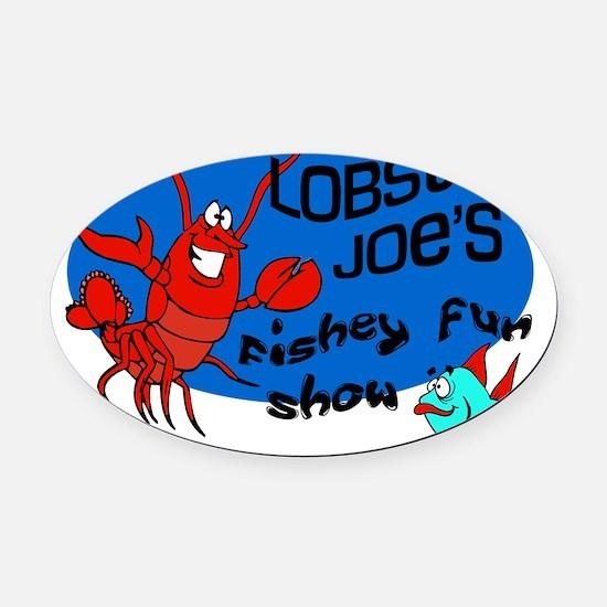 Lobster-Joe Oval Car Magnet