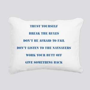 The Six Rules Of Life Rectangular Canvas Pillow