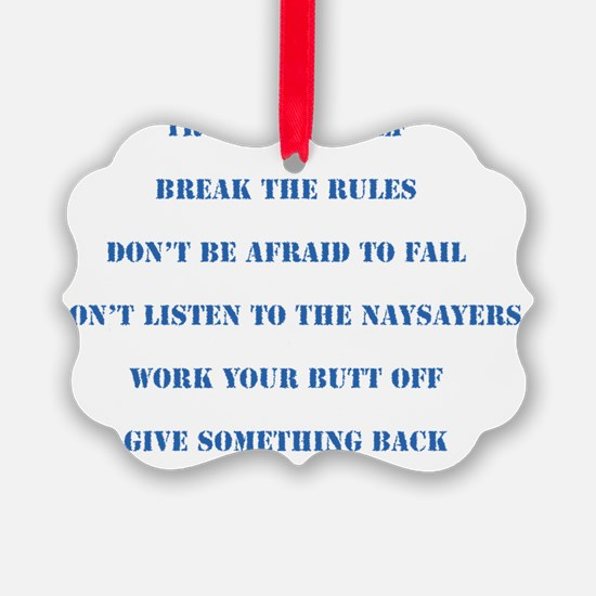 The Six Rules Of Life Ornament
