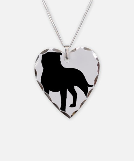 staffybizblk Necklace Heart Charm