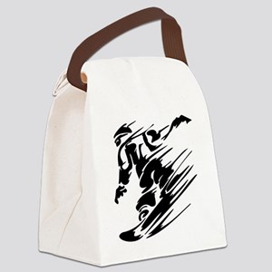 Snowboarding1 Canvas Lunch Bag