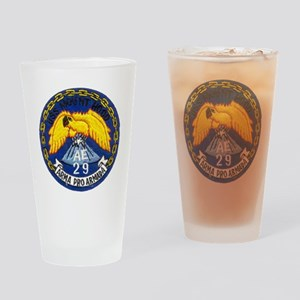 uss mount hood patch transparent Drinking Glass