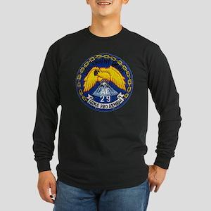 uss mount hood patch tran Long Sleeve Dark T-Shirt