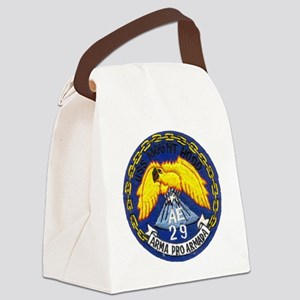 uss mount hood patch transparent Canvas Lunch Bag