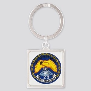 uss mount hood patch transparent Square Keychain