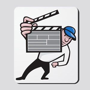 Director With Movie Clapboard Cartoon Mousepad