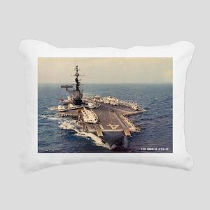uss midway cva large fra Rectangular Canvas Pillow