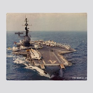 uss midway cva large framed print Throw Blanket
