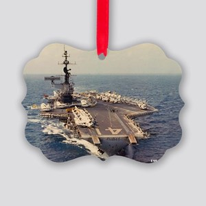uss midway cva large framed print Picture Ornament
