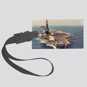 uss midway cva large framed prin Large Luggage Tag