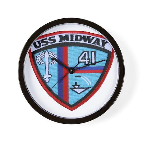 Attirant Uss Midway Patch Transparent Wall Clock