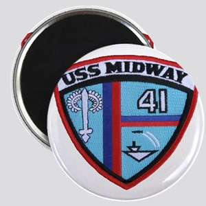 uss midway patch transparent Magnet