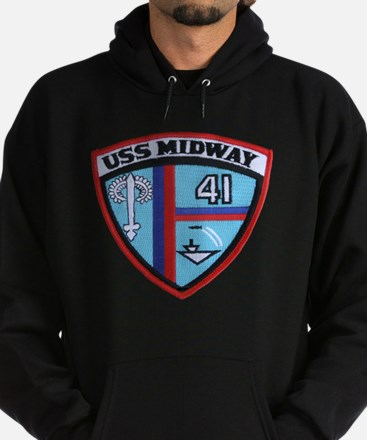 uss midway patch transparent Hoodie (dark)