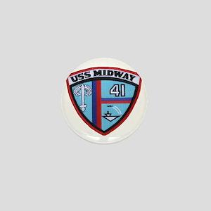 uss midway patch transparent Mini Button