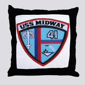 uss midway patch transparent Throw Pillow
