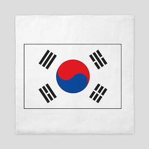 South Korea Flag Queen Duvet