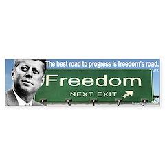 JFK Freedom Quote Bumper Bumper Sticker
