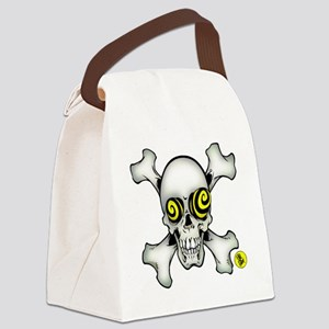 skully and crossbones large Canvas Lunch Bag