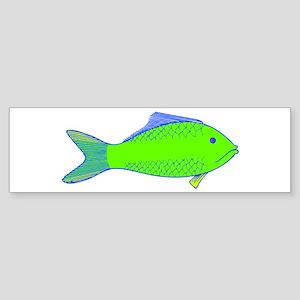 Green Fish Bumper Sticker