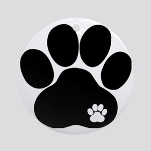 Double Paw Round Ornament