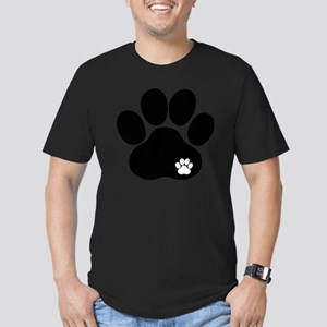 Double Paw Men's Fitted T-Shirt (dark)
